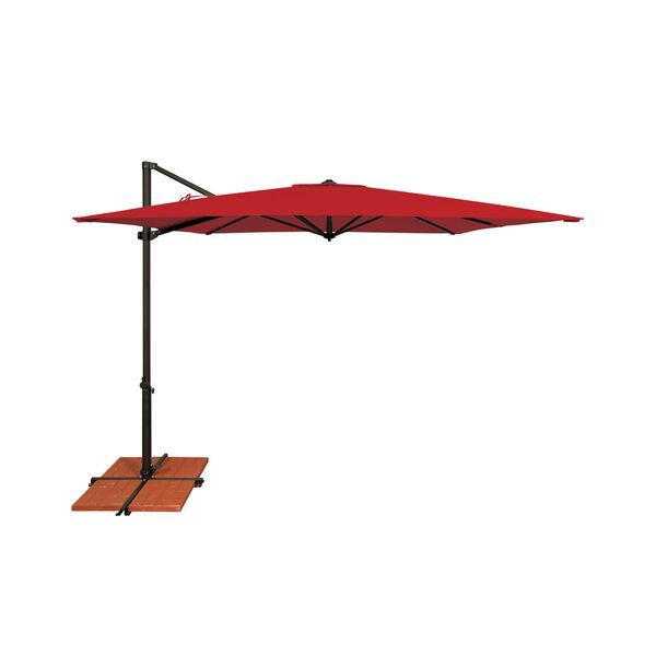 Skye Jockey Red and Black Cantilever Umbrella, image 1