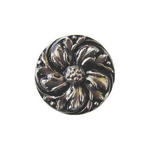 Satin Nickel Chrysanthemum Knob , image 1