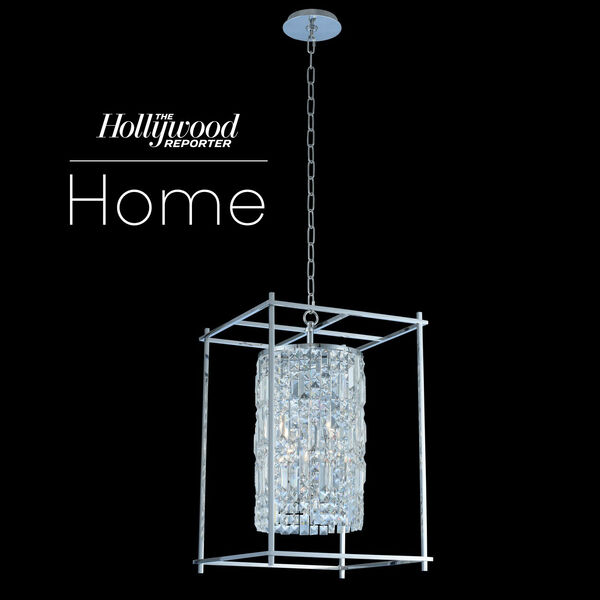 The Hollywood Reporter Joni Chrome 16-Inch Four-Light Pendant with Firenze Crystal, image 1