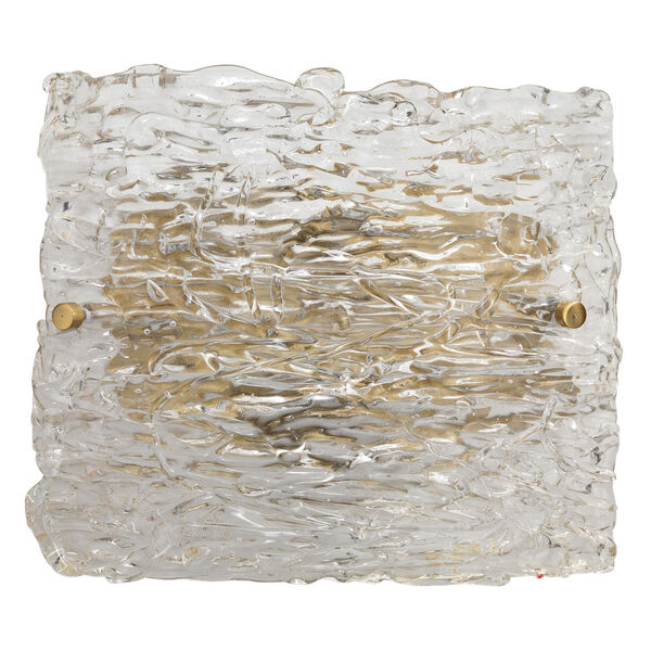 Swan Clear Antique Brass 10-Inch Two-Light Wall Sconce, image 1