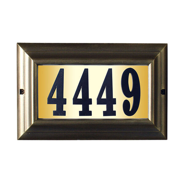 Edgewood French Bronze Large Do It Yourself Kit Lighted Address Plaque, image 1