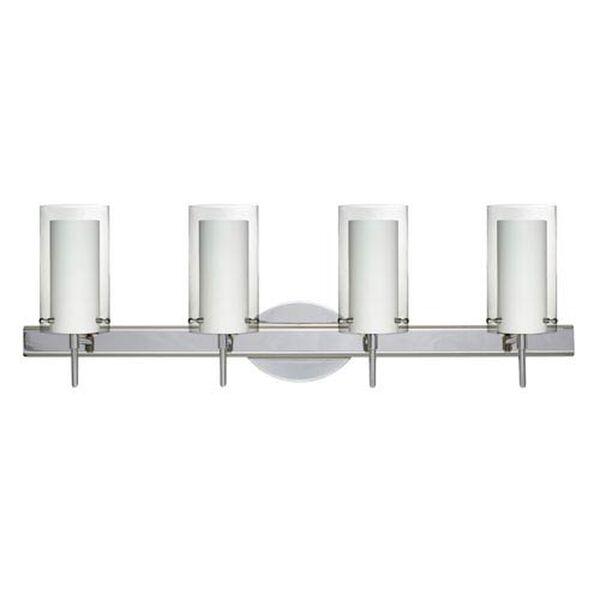 Pahu 4 Chrome Four-Light LED Bath Vanity with Clear Glass, image 1