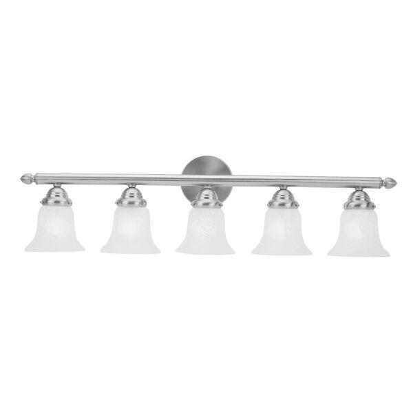 Home Basics Five-Light Brushed Nickel Bath Fixture, image 2