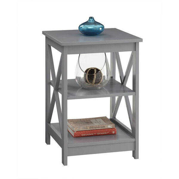 Oxford Gray End Table, image 2