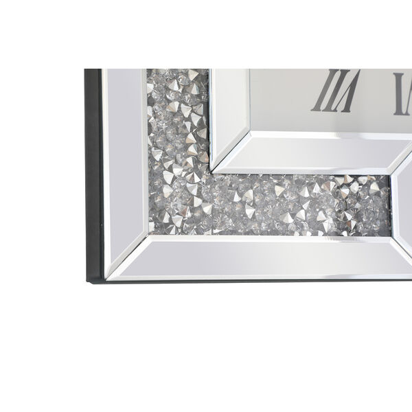 Modern Mirrored 10-Inch Crystal Wall Clock, image 5