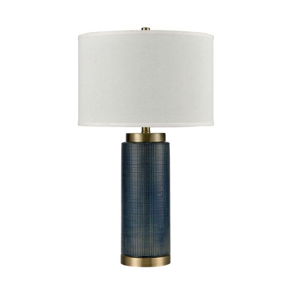 Concettas Blue Navy Blue Antique Brass One-Light Table Lamp, image 2