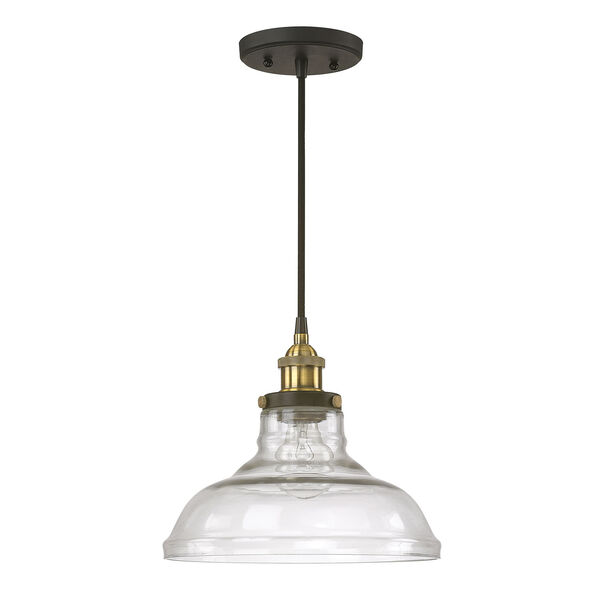 Afton Bronze and Brass One-Light Pendant, image 1