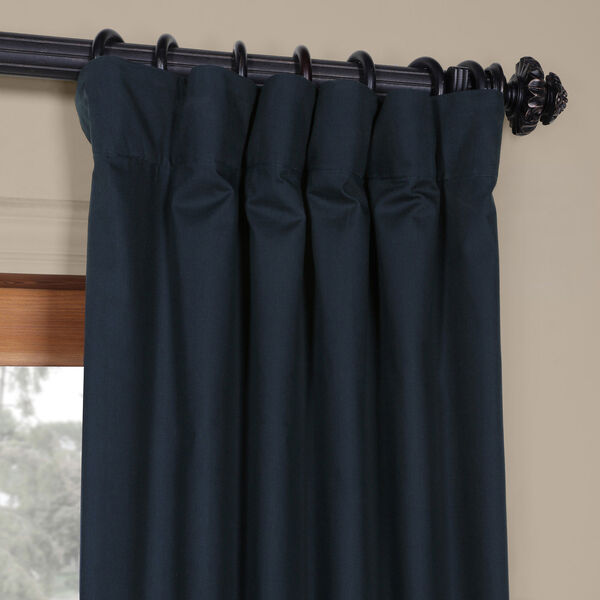 Polo Navy 50 x 84-Inch Solid Cotton Blackout  Curtain, image 7