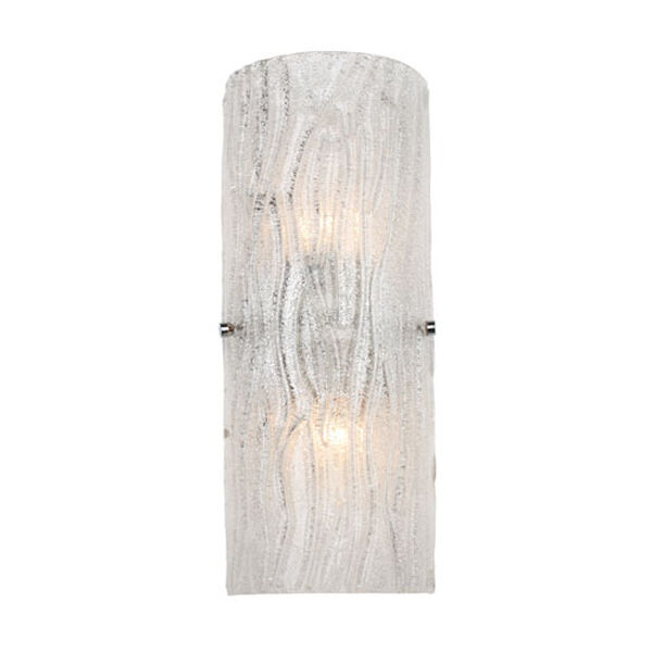 Brilliance Two-Light Chrome Finish with Bright Ice Glass Wall Sconce, image 1