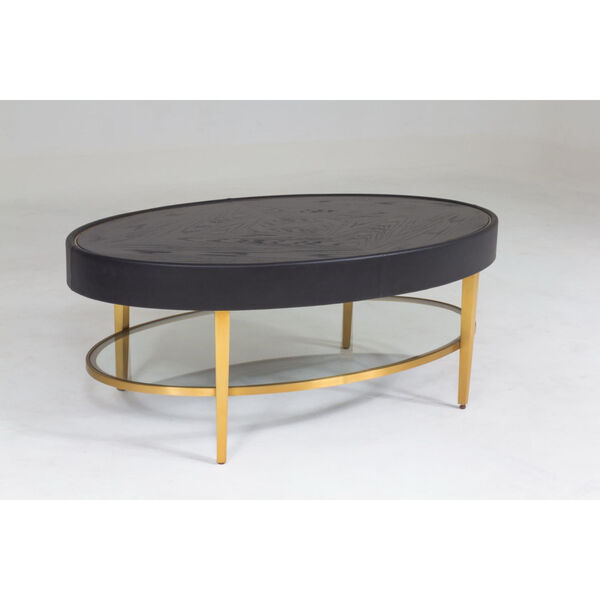 Ellipse Black and Gold Cocktail Table, image 2