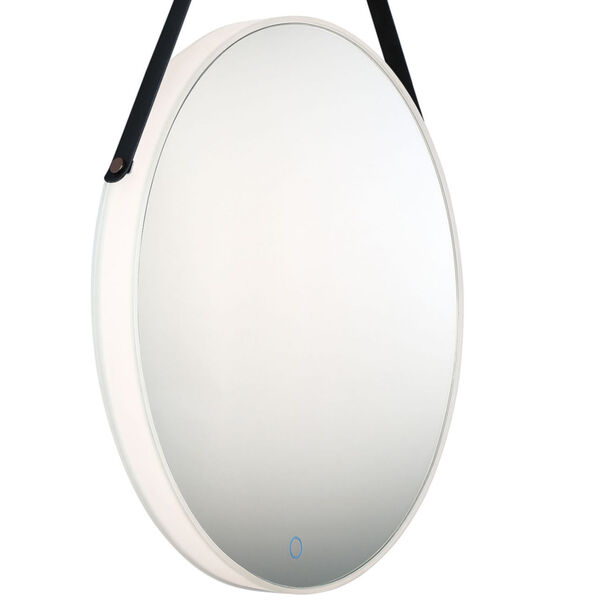 Silver One-Light LED Mirror, image 4