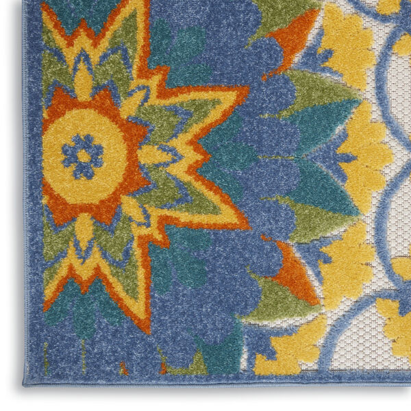 Aloha Blue and Yellow Indoor/Outdoor Area Rug, image 5