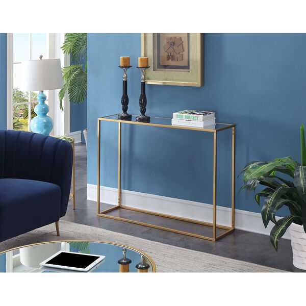 Gold Coast Gold 11-Inch Mirrored Console Table, image 1