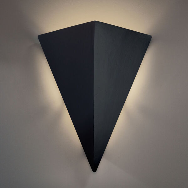Ambiance Carbon Matte Black 20-Inch Two-Light Triangle LED Outdoor Wall Sconce, image 2