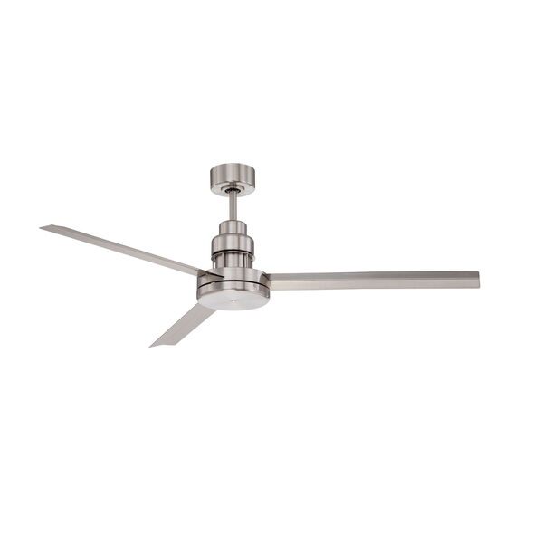 Mondo Brushed Polished Nickel 54-Inch Ceiling Fan with Three Blades, image 1