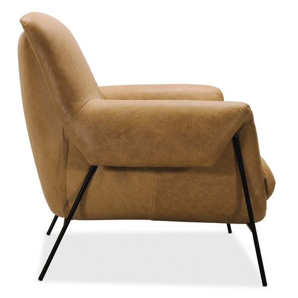Brown Ambroise Metal Frame Club Chair, image 2