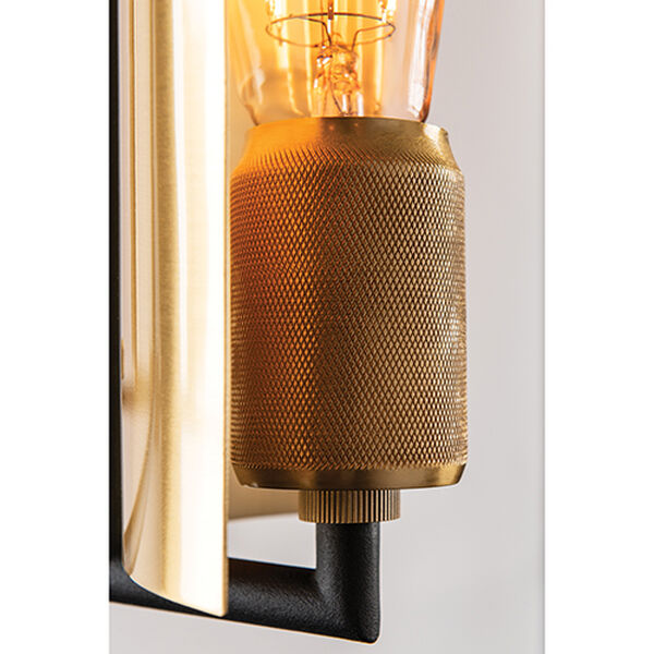 Cleo Black and Brass One-Light Wall Sconce, image 3