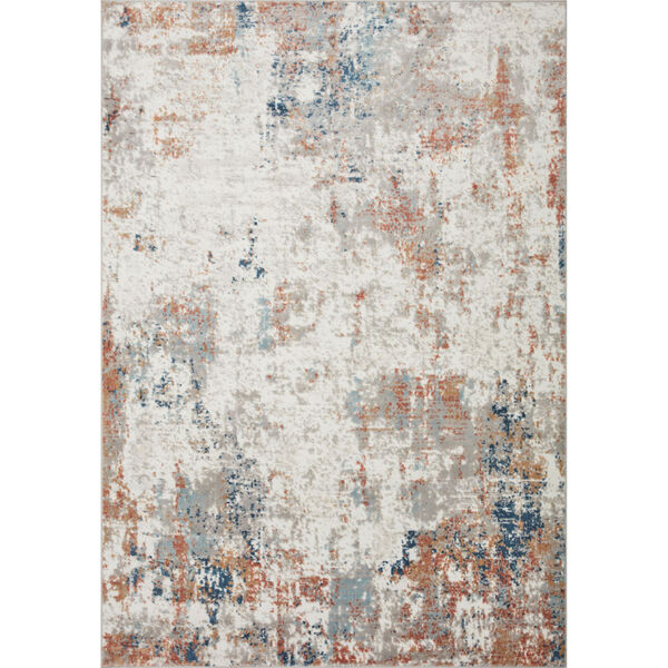 Bianca Ivory, Spice and Blue 9 Ft. 9 In. x 13 Ft. 6 In. Area Rug, image 1