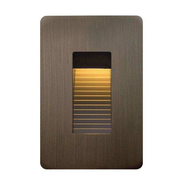 Luna Matte Bronze Line Voltage 3-Inch LED Landscape Deck Light, image 1