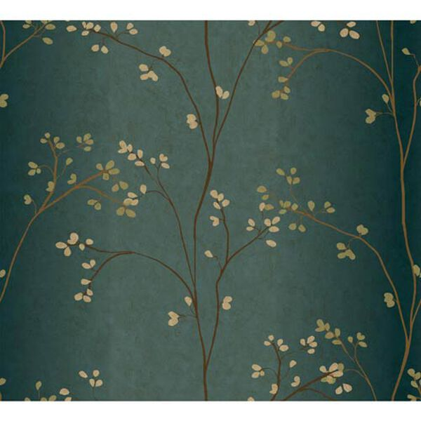Inspired by Color Teal, Bronze Metallic and Powder Green Wallpaper, image 1