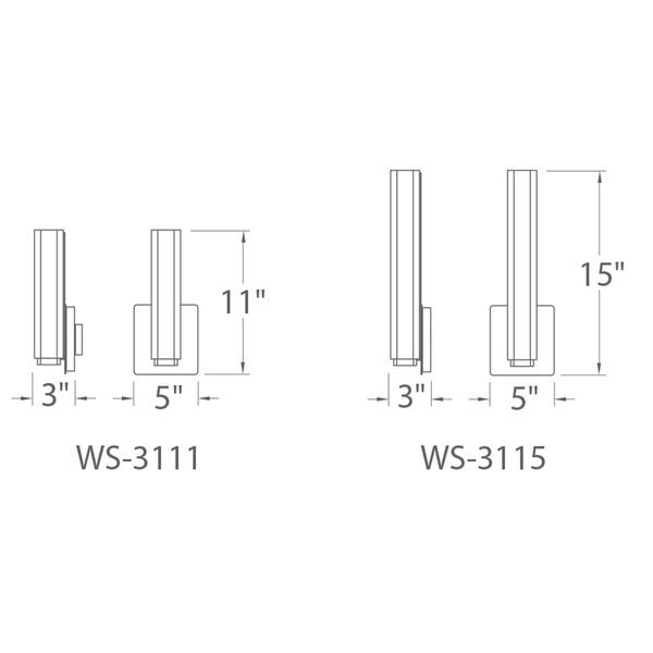 Vogue Brushed Nickel 5-Inch LED Wall Sconce, image 2