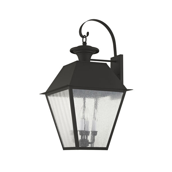 Mansfield Black Four-Light Outdoor Wall Lantern, image 2