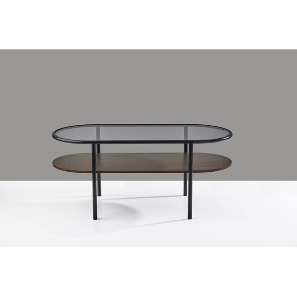 Gavin Black and Walnut Two-Tiered Coffee Table, image 5