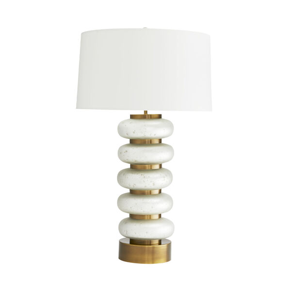 Gaelen Frosted Mercury One-Light Table Lamp, image 1