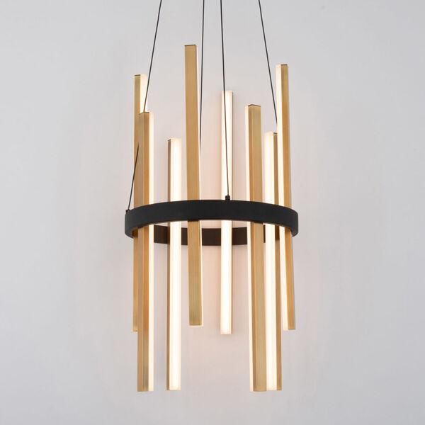 Harmonix Black and Aged Brass LED Chandelier, image 3