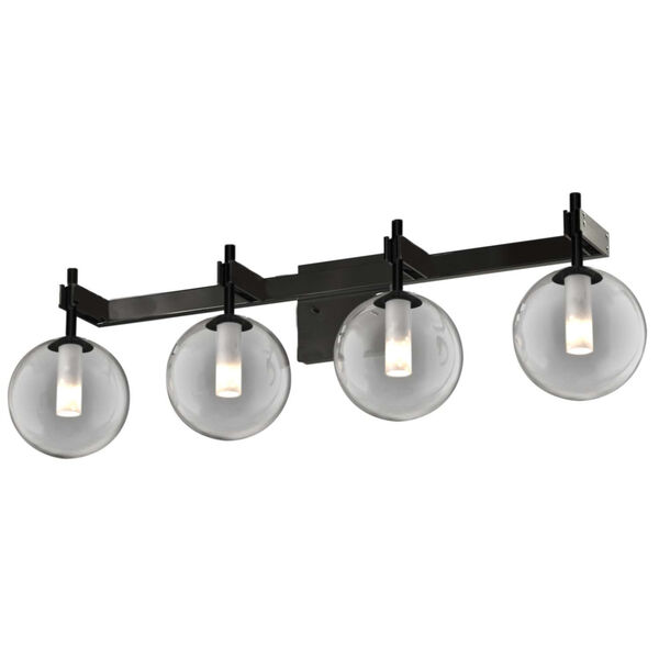 Courcelette Graphite Four-Light Bath Vanity with Smoke Glass, image 1