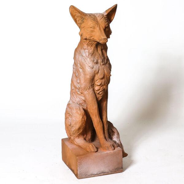 Autumn Rose Fiberstone Astute Fox Figurine, image 2