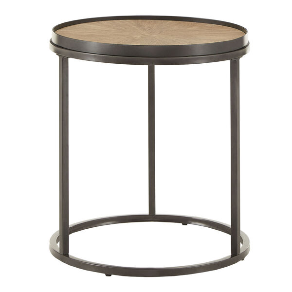 Cliff Gray Oak Round End Table, image 2