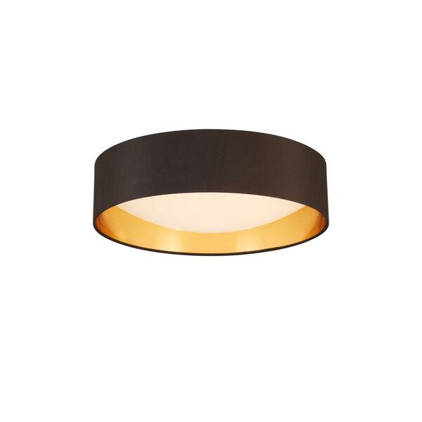 Orme Black and Gold LED 16-Inch Flush Mount, image 1
