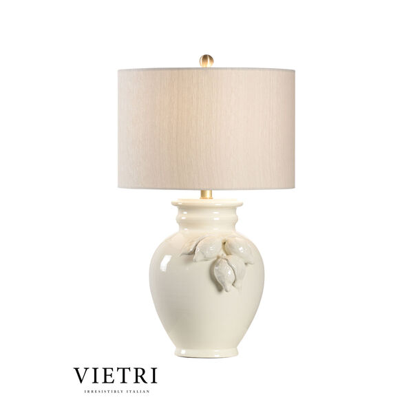 White and Cream One-Light Table Lamp, image 1