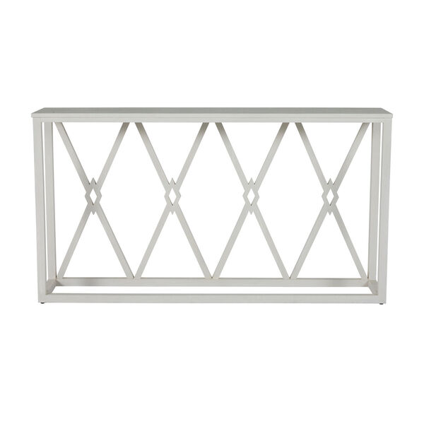 Alandra Cerused White and Stained Gold Console Table, image 4