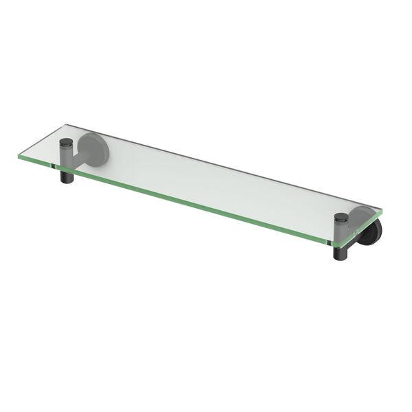 Latitude II Matte Black Glass Shelf, image 1