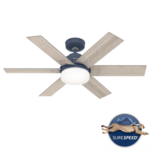 Pacer Indigo Blue 44-Inch Two-Light LED Ceiling Fan, image 1