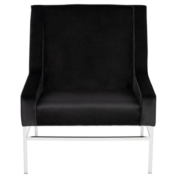 Theodore Black and Silver Occasional Chair, image 2