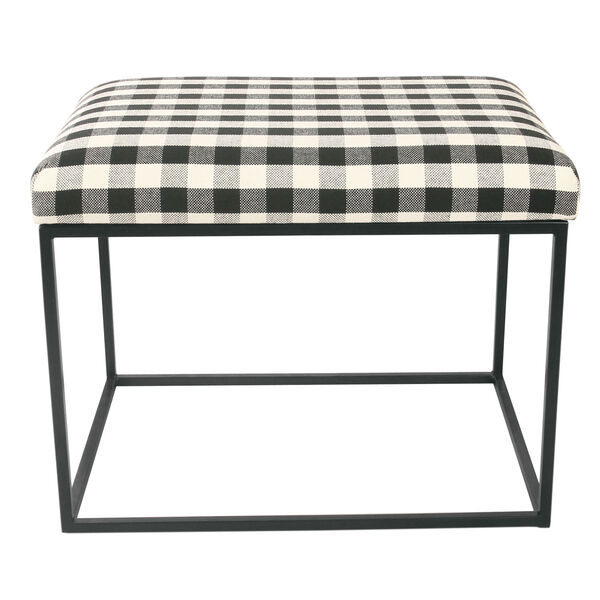 Black and White 22-Inch Ottoman, image 1