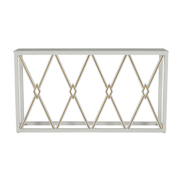Alandra Cerused White and Stained Gold Console Table, image 2