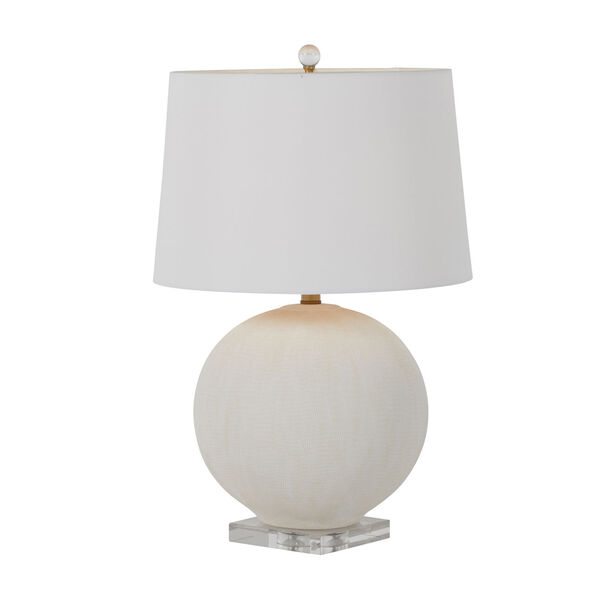 Wheeler White and Antique Brass One-Light Table Lamp, image 2
