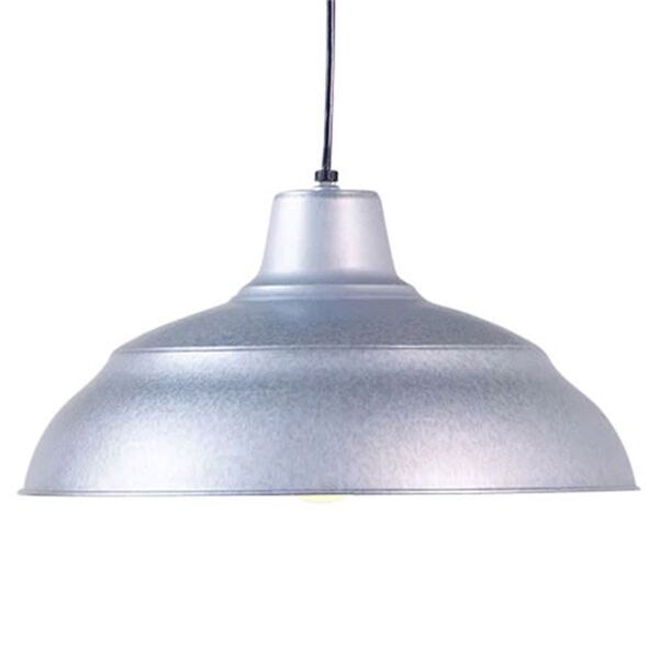 R Series Galvanized 17-Inch Warehouse Cord Hung Outdoor Pendant, image 2