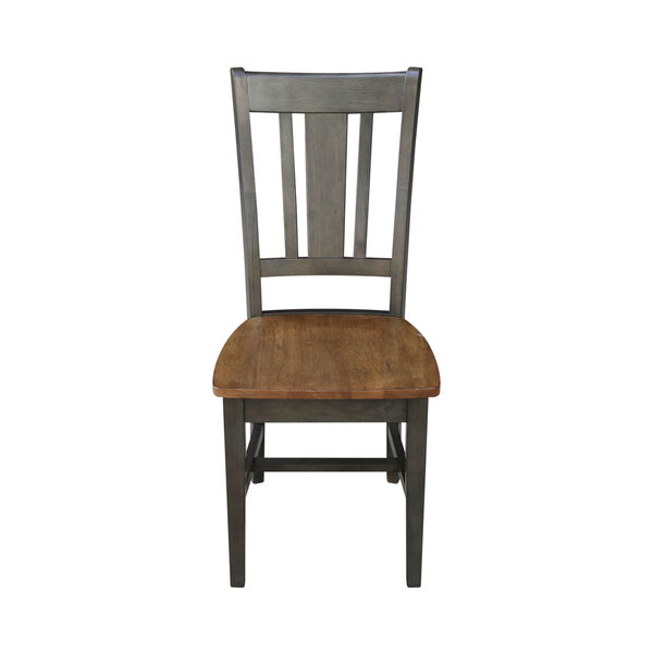 San Remo Hickory and Washed Coal Splatback Chair, Set of 2, image 4