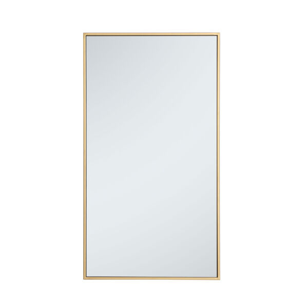 Eternity Brass 20-Inch Rectangular Mirror with Metal Frame, image 1