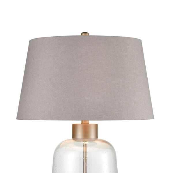 Whaling Clear Bubble Glass and Pewter One-Light Table Lamp, image 3