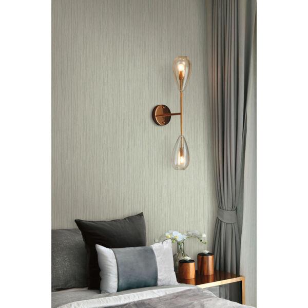 Antonina Vella Elegant Earth Sage Temperate Veil Stripes Wallpaper, image 4