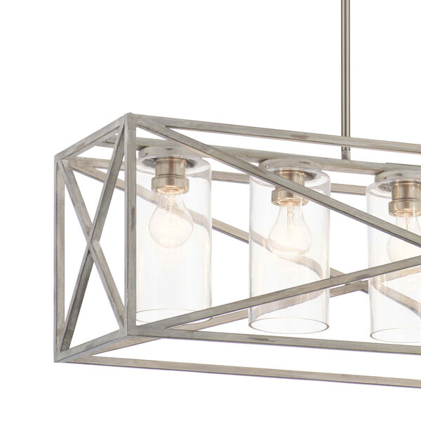 Moorgate Distressed Antique White Five-Light Chandelier, image 4