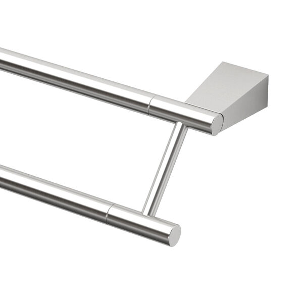Bleu Satin Nickel 24 Inch Double Towel Bar, image 2