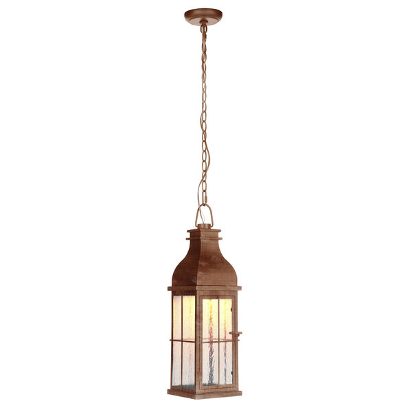 Vincent Weathered Copper LED Outdoor Pendant, image 1