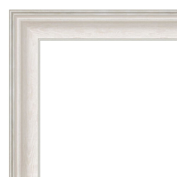 Trio White and Silver 24W X 24H-Inch Bathroom Vanity Wall Mirror, image 2